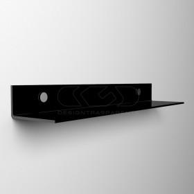 Mensola a L cm 95 in plexiglass trasparente o colorato senza staffe