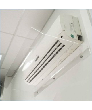 Deflettore 80 cm in plexiglass trasparente o bianco deviatore aria