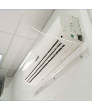 Deflettore 90 cm in plexiglass trasparente o bianco deviatore aria