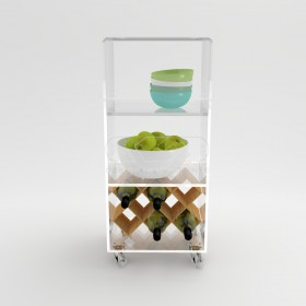 Acrylic trolley cart 30x20 for kitchen or bathroom