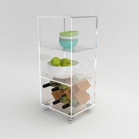 Acrylic trolley cart 30x20 for kitchen or bathroom