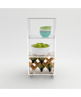 Acrylic trolley cart 40x20 for kitchen or bathroom