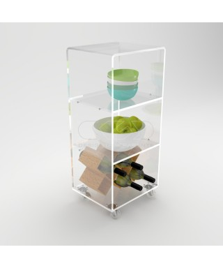 Acrylic trolley cart 40x30 for kitchen or bathroom