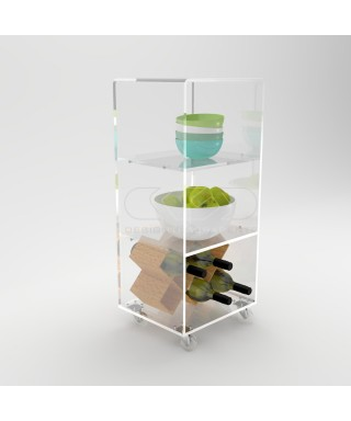 Acrylic trolley cart 50x20 for kitchen or bathroom