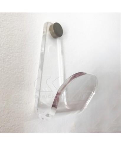Acrylic Hook wall hanger for bathroom