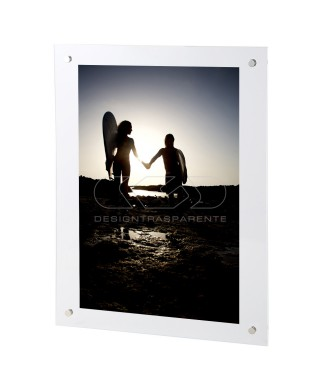 Photo Frame Base cm 25 variable H plexiglass with transparent screws