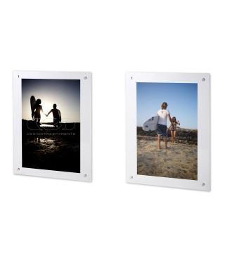 Cornice a giorno Base 35 H variab in plexiglass gancio trasparente