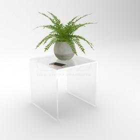 Acrylic coffee table cm 40x30 lucyte clear side table plexiglass