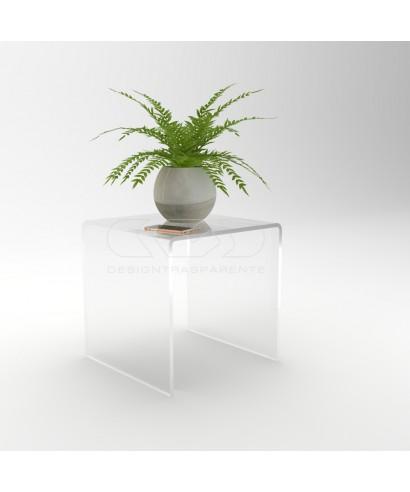 Tavolino a ponte cm 50x30 tavolo da salotto in plexiglass trasparente