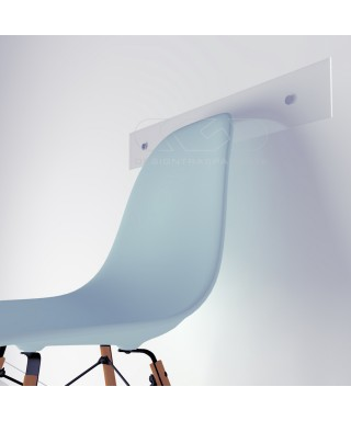 Chair rail cm 99 high thickness clear acrylic wall protector