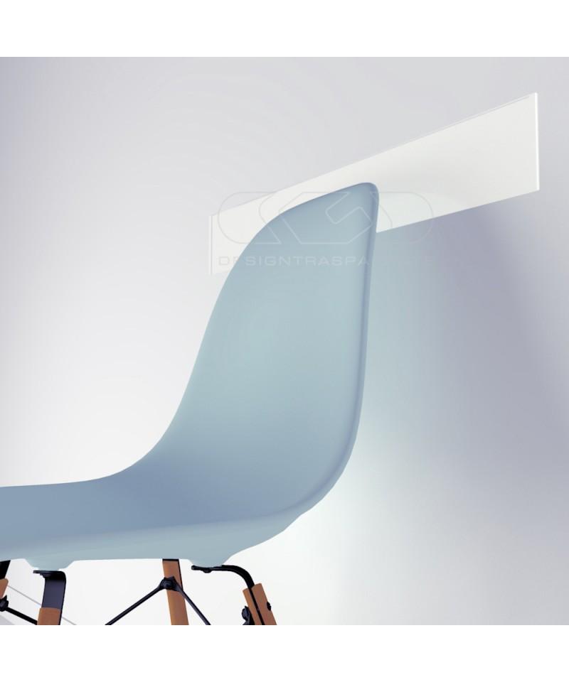 White acrylic chair rail cm 99 wall protector