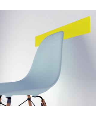 Fasce paracolpi giallo limone cm 99 battisedia in plexiglass