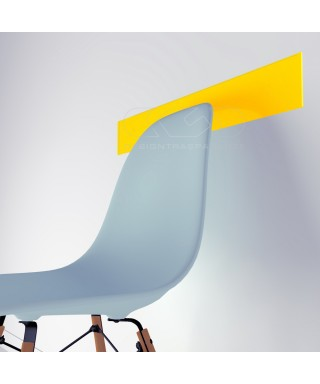 Ochre Yellow acrylic chair rail cm 99 wall protector