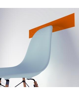 Orange acrylic chair rail cm 99 wall protector