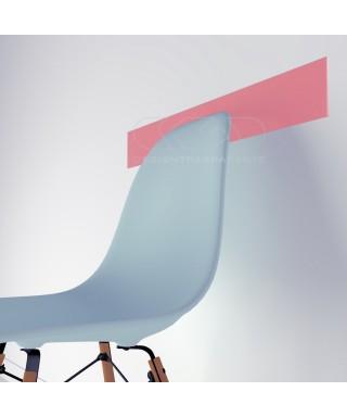 Light Pink acrylic chair rail cm 99 wall protector