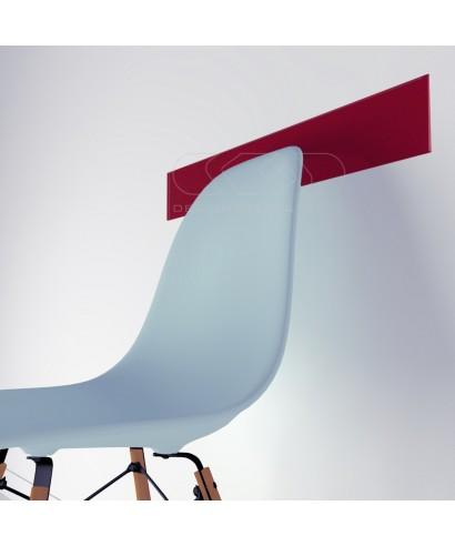 Fasce paracolpi rojo cm 99 battisedia in plexiglass