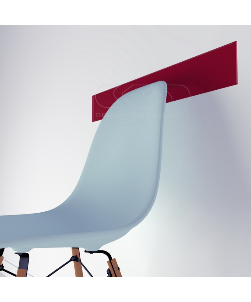 Red acrylic chair rail cm 99 wall protector