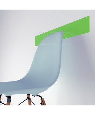 Protector de pared verde lima cm 99 de metacrilato