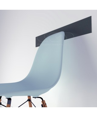 Mouse grey acrylic chair rail cm 99 wall protector