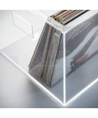 Vinilio 33 giri contenitore per vinili in plexiglass trasparente