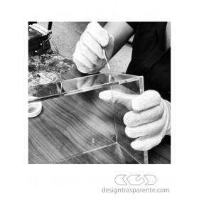 30x25h85 - Lastre in plexiglass trasparente su misura, colla per plexiglass, teca fai da te