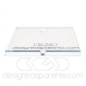 55x55h45 Lastre in plexiglass trasparente su misura e colla per teca
