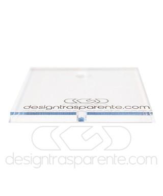 85x40h40 Kit lastre in plexiglass su misura e colla per teca fai da te