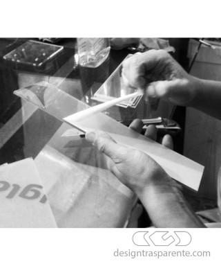 95x35h75 Kit lastre in plexiglass su misura e colla per teca fai da te
