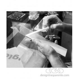 90x20h20 Kit lastre in plexiglass su misura e colla per teca fai da te