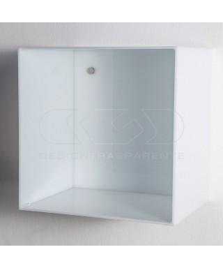 4 Cubi Su Misura in plexiglass bianco con e senza sportello