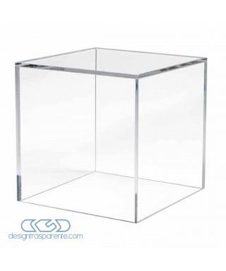 6 teche su misura in plexiglass trasparente senza base cm 26x26 h12