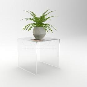 OFFERTA Tavolino da salotto cm 30x20h50 in plexiglass trasparente
