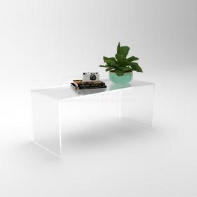 OFFERTA Tavolo soggiorno moderno cm70x30h40 in plexiglass trasparente