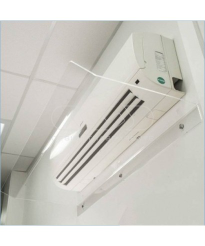Deflettore Su Misura 100 cm in plexiglass trasparente deviatore aria
