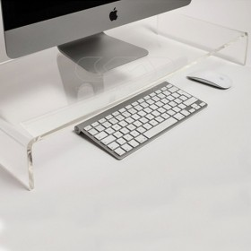 Supporto cm 35x20 alzata rialzo monitor in plexiglass trasparente