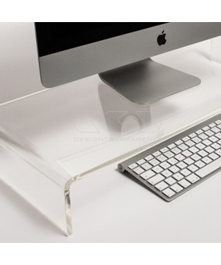 40x40 clear acrylic monitor rise stand