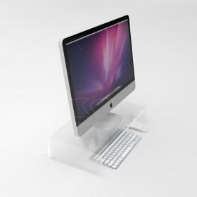 Supporto cm 50x30 alzata rialzo monitor in plexiglass trasparente