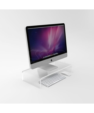 60x20 clear acrylic monitor rise stand