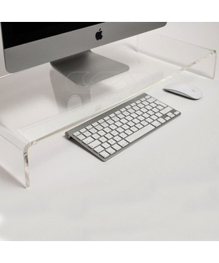 65x50 clear acrylic monitor rise stand