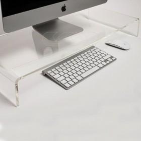 Alzata cm 70x40 supporto monitor rialzo in plexiglass trasparente