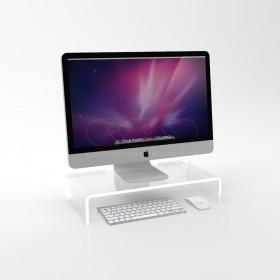 Alzata cm 85x50 supporto monitor rialzo in plexiglass trasparente