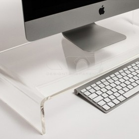 Alzata cm 95x30 supporto monitor rialzo in plexiglass trasparente