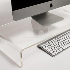 Alzata cm 100x20 supporto monitor rialzo in plexiglass trasparente