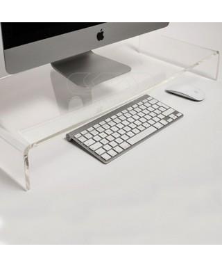 Alzata cm 100x50 supporto monitor rialzo in plexiglass trasparente