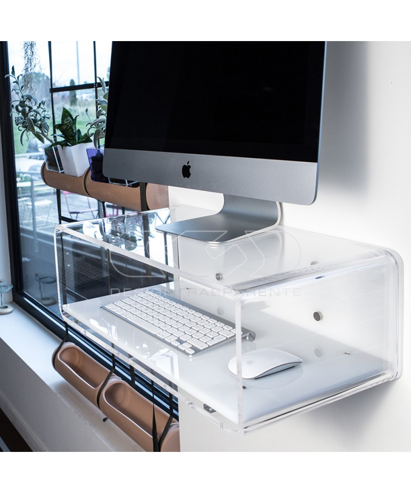 Acrylic console for iMac 27""