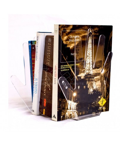 Acrylic hand-shaped bookend transparent lucite