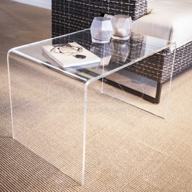 Tavolino a ponte cm 30x20 tavolo da salotto in plexiglass trasparente