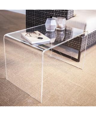 Acrylic coffee table cm 45x20 lucyte clear side table plexiglass