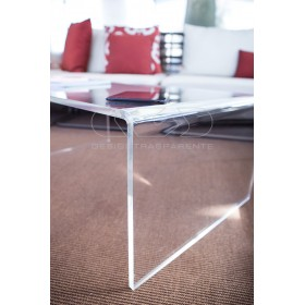 Acrylic coffee table cm 55x20 lucyte clear side table plexiglass