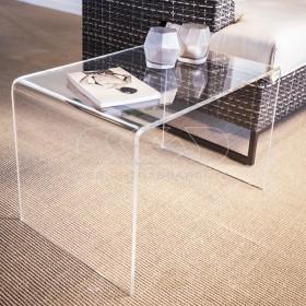 Acrylic coffee table cm 70x20 lucyte clear side table plexiglass
